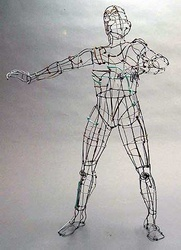 wireframe man